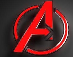 avengers logo 3D asset