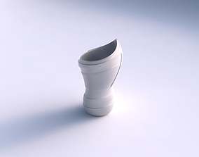 Vase vortex smooth with smooth ribbons 3D print model