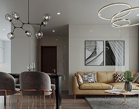 3D interior Apartment livingroom modern
