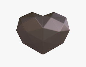 3D model Black heart amulet
