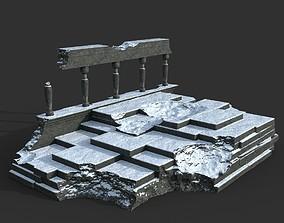 Low poly Ancient Roman Ruin Construction 08 - 3D asset 1