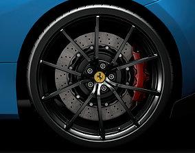 Ferarri GTB 488 Pista 2020 wheel 3D