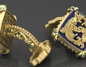 Zodiac signs Cufflinks Fish 3D printable model