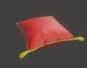 3D asset classic elegant pillow