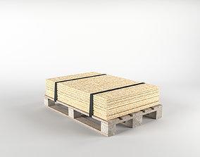 OSB on pallet 3D model game-ready