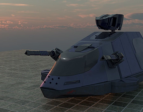 Military Hover Tank 2050 3D model
