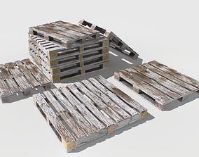 3D asset Industrial Wooden Pallet 7