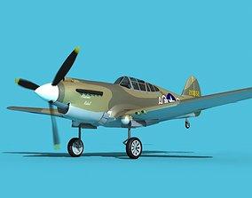 Curtiss P-40B Warhawk V09 USAAF 3D