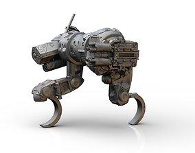 Sabueso All terrain military mech vehicle 3D print model