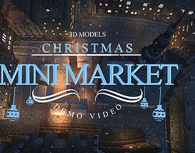 3D model Christmas Mini Market