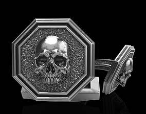 3D printable model skull cufflinks skeleton