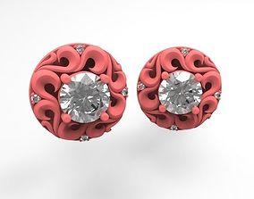 Braided earrings 3D print model