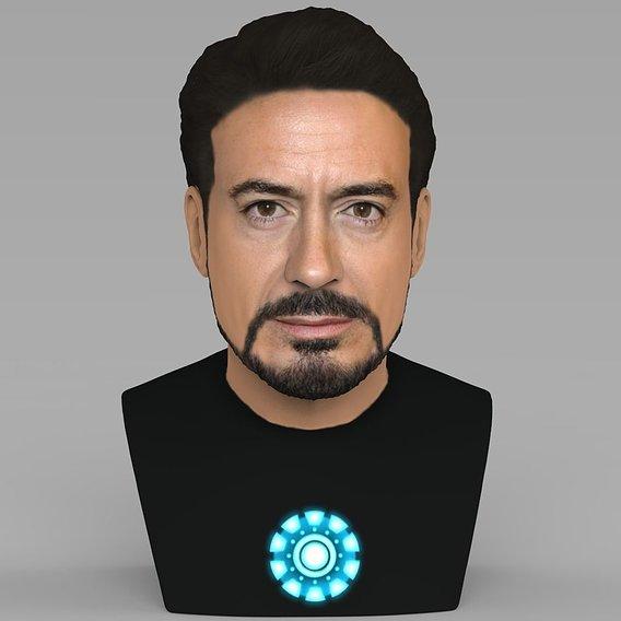 Tony Stark bust for full color 3D printing