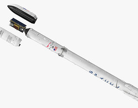 3D SpaceX Rocket Falcon 9 with Satellite