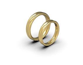 3D print model 2 lives 1 fate wedding comfort rings