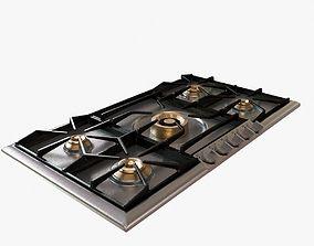 Gaggenau 200 series gas cooktop 3D model
