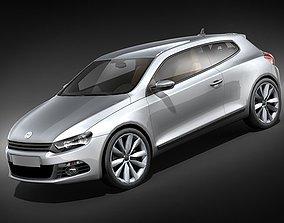 Volkswagen Scirocco 2009 mid-poly 3D Model