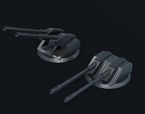 Spaceship Turret Z30 3D model