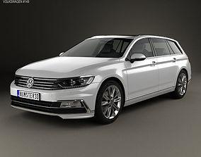 3D model Volkswagen Passat B8 R-Line 2015