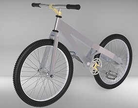 bike with manufactured frame 3D model