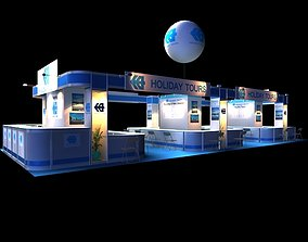 Holiday Tour Exhibition 6 x 15 Booth 3D model