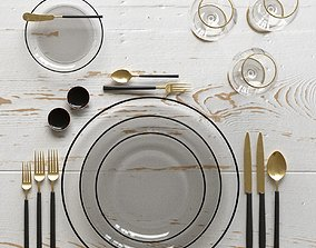 3D model Table Setting 07 dining