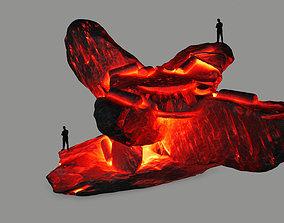 3D asset low-poly lava temple