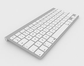 Wireless computer keyboard 3d model