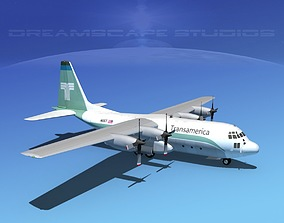 3D model Lockheed C-130 Hercules Transamerica