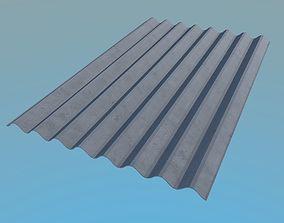 3D model Slate Roof 1130x1750mm 8 Waves