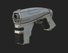 3D model realtime Low Poly Sci-fi Gun