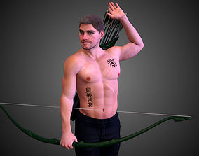 3D animated Oliver Queen - Arrow