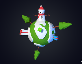 Christmas Earth 3D model