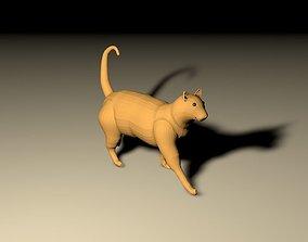 Low Poly Cat 3D asset