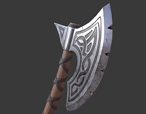 3D model Viking Axe Low Poly Game Ready