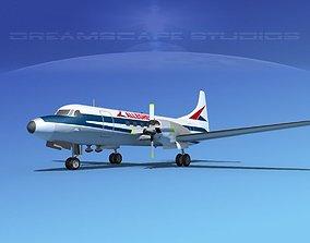 3D Convair CV-580 Alleghany