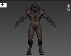 Werewolf high poly model