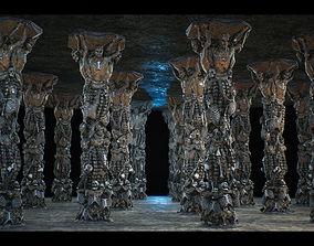 3D asset ColumnSkeleton