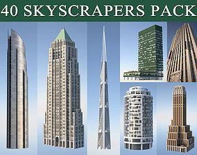 Skyscraper Pack 3D model