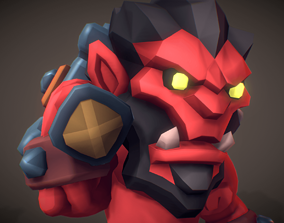3D model Red Orc Gortak - Proto Series