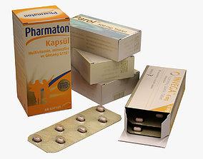 Pills 001 3D asset
