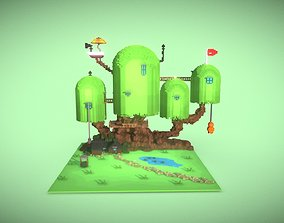 3D model Treehouse from the cartoon Adventure Time