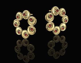 Round ayes earrings 3D printable model