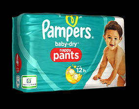 3D model Diaper package