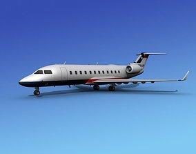 3D Canadair CRJ200 Texair