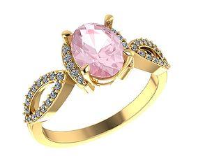diamond-ring rings 3D print model Ring