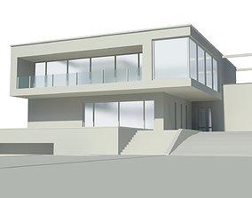 3D model contemporary suburban Modern house