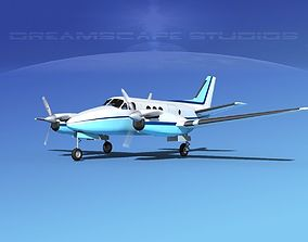 3D model Beechcraft King Air 100 V02