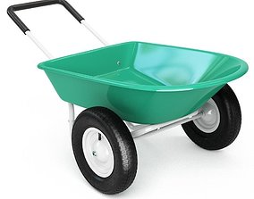 3D Giantex Large Capacity 2-Wheel Garden Utility