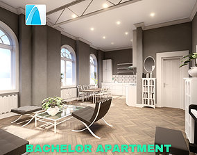 game 3D Bachelor Studio Apartment Scene - Archicad